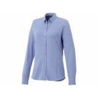 Женская рубашка Bigelow из пике с длинным рукавом, светло-синий