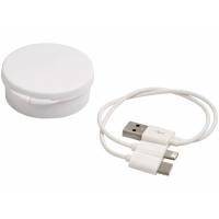 Кабель для зарядки Versa 3-в-1 в футляре, белый