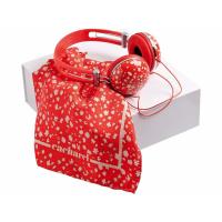 Набор Cacharel: дизайнерские наушники, шелковый платок