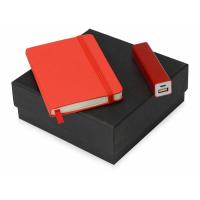 Подарочный набор To go с блокнотом и зарядным устройством, красный