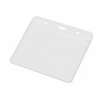 Бейдж Crystal Flat 115*101 мм (внут.размер 98*68 мм), прозрачный