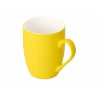Кружка керамическая с покрытием софт тач желтая
