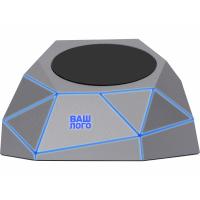 Док-станция Geo Dock с быстрой беспроводной зарядкой, серебристый с синей подсветкой. XOOPAR