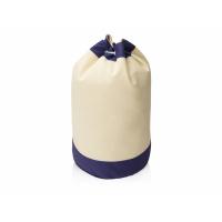Рюкзак-мешок Indiana хлопковый, 180гр, натуральны/синий