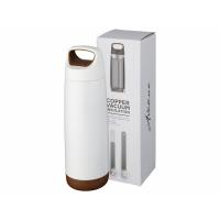 Спортивная медная бутылка с вакуумной изоляцией Valhalla объемом 600мл, белый