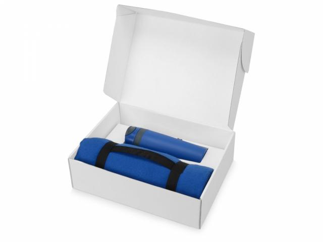 Подарочный набор Cozy с пледом и термокружкой