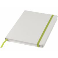 Блокнот А5 «Spectrum» с белой обложкой и цветной резинкой