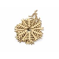Набор деревянных снежинок