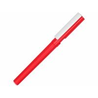 Ручка пластиковая шариковая трехгранная Nook с подставкой для телефона в колпачке, красный/белый