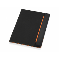 Папка для документов Делос, черный/оранжевый