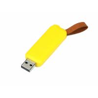 USB 3.0- флешка промо на 32 Гб прямоугольной формы, выдвижной механизм