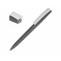 Ручка пластиковая soft-touch шариковая Zorro, серый/белый