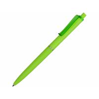 Ручка пластиковая soft-touch шариковая Plane, зеленое яблоко