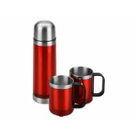 Набор Походный: термос, 2 кружки, красный (Р)
