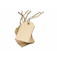 Набор деревянных ярлыков 9,3*5,5 см, 6шт
