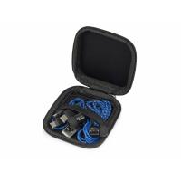 Набор с наушниками и зарядным кабелем 3-в-1 In motion, синий