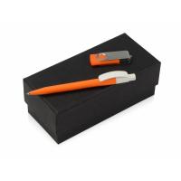 Подарочный набор Uma Memory с ручкой и флешкой, оранжевый