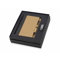 Подарочный набор Essentials с флешкой и блокнотом А5 с ручкой, черный