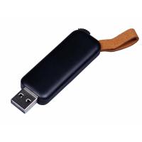 USB 2.0- флешка промо на 32 Гб прямоугольной формы, выдвижной механизм