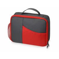 Изотермическая сумка-холодильник Breeze для ланч-бокса, серый/красный