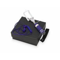 Подарочный набор Selfie с Bluetooth наушниками и моноподом, синий