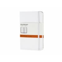 Записная книжка Moleskine Classic (в линейку) в твердой обложке, Pocket (9x14см), белый