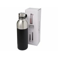 Медная спортивная бутылка с вакуумной изоляцией Koln объемом 590мл, черный
