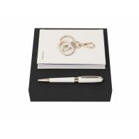 Подарочный набор: блокнот А6, ручка шариковая, брелок