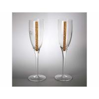 Бокалы для шампанского с кристаллами Swarovski Chinelli