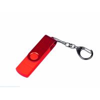 USB 2.0/micro USB/Type-С- флешка на 64 Гб 3-в-1 с поворотным механизмом