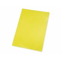 Папка- уголок, для формата А4, плотность 180 мкм, желтый