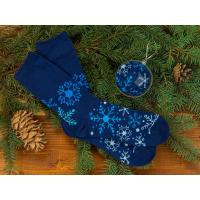 Носки в шаре Снежинка мужские, синий