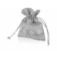 Мешочек подарочный новогодний, хлопок, малый, серый