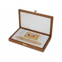 Набор Vip-персона: визитница с закладкой для книг с символикой РФ, золотистый