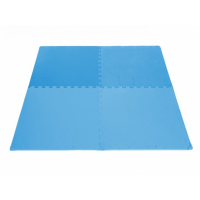 Коврик для фитнеса секционный Bradex, голубой