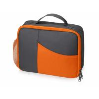Изотермическая сумка-холодильник Breeze для ланч-бокса, серый/оранжевый