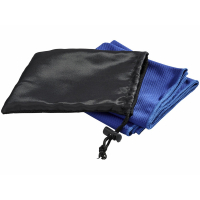 Охлаждающее полотенце Peter в сетчатом мешочке, синий