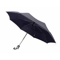 Зонт Alex трехсекционный автоматический 21,5, темно-синий (Р)
