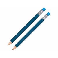 Набор Даллас: ручка шариковая, карандаш с ластиком в футляре, синий