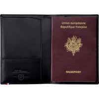 Обложка для паспорта S.T. Dupont, черный