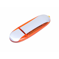 USB 3.0- флешка промо на 128 Гб овальной формы