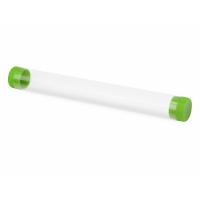 Футляр-туба пластиковый для ручки Tube 2.0, прозрачный/зеленое яблоко