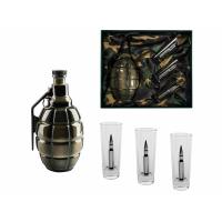 Подарочный набор для водки с фарфоровым штофом Бей врага до последнего патрона