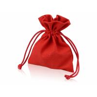 Мешочек подарочный, лен, малый, красный