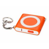 Брелок-рулетка с фонариком, 1 м., оранжевый/белый