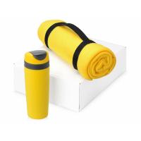 Подарочный набор Cozy с пледом и термокружкой, желтый