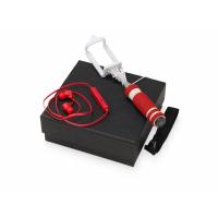 Подарочный набор Selfie с Bluetooth наушниками и моноподом, красный