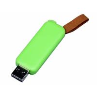 USB 2.0- флешка промо на 4 Гб прямоугольной формы, выдвижной механизм