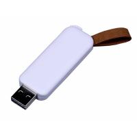 USB 2.0- флешка промо на 64 Гб прямоугольной формы, выдвижной механизм