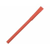 Ручка картонная с колпачком Recycled, красный